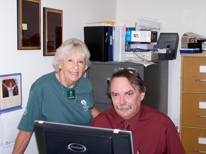 Anne Hudgins and Jay Halcomb of Sierra Club Sonoma Group at the Environmental Center in 2005