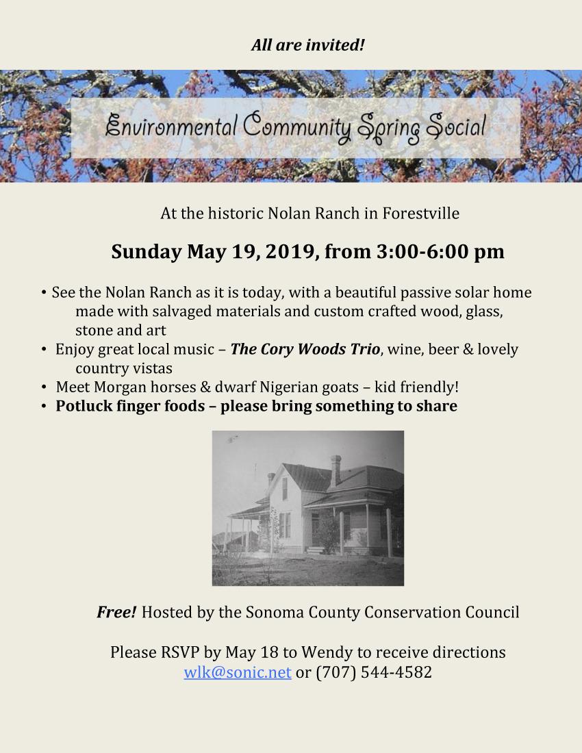 Flyer for SCCC Spring Social